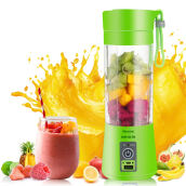 JDwonderfulhouse Portable USB Electric Fruit Citrus Juicer Bottle Handheld Milkshake Smoothie Maker Rechargeable Juicer