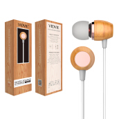 VIDVIE Earphone HS609 / Headset / Handsfree / Earbuds Silver