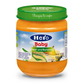 HERO BABY Import Premium Food Pear Banana 115 gr