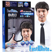 FASTWHITE MEN Fast Teeth Whitening System - Whitening Gel with 3D Fit Tray - Pemutih Gigi Instant [3ml x 4] Others