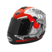 Ducati RX-GP Corse 14 USA Helm Full Face Red White Black XL
