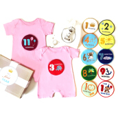 J BABY My First Year Romper Set Pink