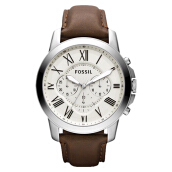 Fossil Grant Chronograph Brown Leather Strap [FS4735]