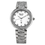 Alexandre Christie AC 2656 LD BSSMS Ladies White Dial Stainless Steel [ACF-2656-LDBSSMS] Silver