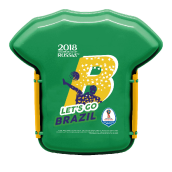TECHNOPLAST FIFA Russia 2018 Lunch Box 800ml - Brazil [FG-SW830.FF18/48P]