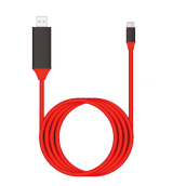 Smatton Type-C HDMI MHL Cable For Lightning to HDMI 1080P HD TV Adapter USB Cable For Samsung Galaxy S8 S8 Plus Red
