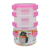 TECHNOPLAST Genio Round Sealware Stackable S1M3 Magenta