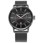 MINIFOCUS imports original sports men's simple steel mesh waterproof watch