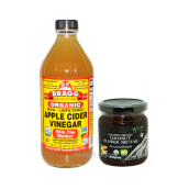 BRAGG Apple Cider Vinegar 473 Ml + Agrilife Coconut Nectar 270 Ml