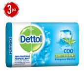 DETTOL Bar Soap Cool 105gr Super Hemat - Isi 3