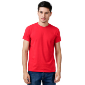 STYLEBASICS Men's Round Neck Basic T-shirt - Red