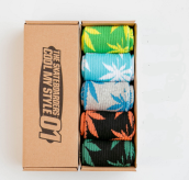 Cool My style CS-8 California skate city Maple leaf socks(about 19cm) five pairs in one set-five colors