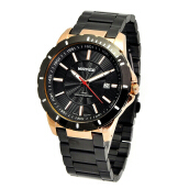MIRAGE Watch Men 8549M Black Rg - Rosegold