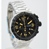 Balmer Stainless Steel Chain Mens B.7964MS-828D45SLHTCR Chronograph Silver Hitam Cream Black