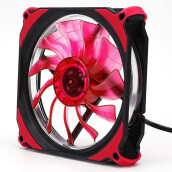 BESSKY Quiet 120mm DC 12V3+4pin LED effects Clear Computer Case Fan For Radiator Mod_