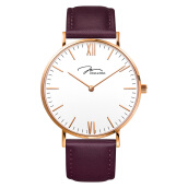 Jonas Verus Ladies Quartz Watch White Dial Purple Leather Strap [X01646-Q3.PPWLX]
