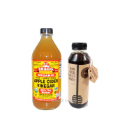BRAGG Apple Cider Vinegar 473 Ml + Honey Life Raw Wild Forest - 500 Ml