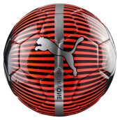 PUMA One Chrome Ball - Red Blast- Black-Silver