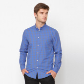A&D Mens Long Sleeve MS 1048 - Blue Check