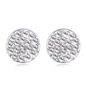 Graduated Crystal Round Stud Earring