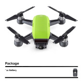 DJI Spark Mini Drone Fly More Combo with Extra Battery - Meadow Green