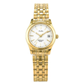 Alba Ladies White Dial Gold Case Gold Stainless Steel Strap [AXT844X1]