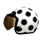 IGLOO Moon White Black Helmet Half Face