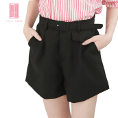 Pink Door Suit Short Pant With pocket-Black