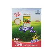 PURE GREEN Organic Rice White Long Grain 4.5kg