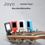 JOYO Clip On Portable Universal Digital 360 Degree Rotatable Guitar Bass Mini LCD Tuners JT-06 White