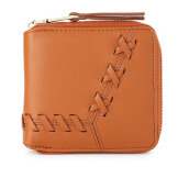HUER Kiva Stitching Small Wallet - Camel