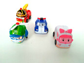 P1-Figure Set Pull Back 4 pcsRobocar Poli & Friends Multicolor