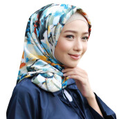 RAFHANAH Pictura Scarf - Blue [All Size]