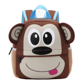 BESSKY Child Backpack Toddler Kid School Bags Kindergarten Cartoon Shoulder Bookbags_ Brown