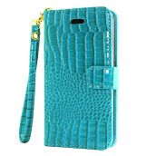 Sentum Samsung Galaxy J2prime case Crocodile Pattern Leather Cover with Cards Slots case