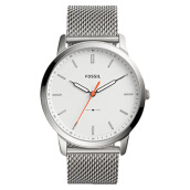 Fossil The Minimalist Slim Men White Dial Stainless Steel Strap [FS5359] Silver