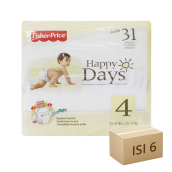 FISHER PRICE Popok Happy Days - Karton Isi 6 [Size 4 - 31]