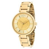 Armani Exchange Ladies Street Gold Dial Gold Stainless Steel [AX5316]