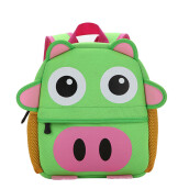 BESSKY Child Backpack Toddler Kid School Bags Kindergarten Cartoon Shoulder Bookbags_ Green