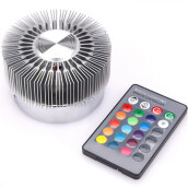 BESSKY Colorful RGB Sun Flower Wall Lamp Surface Install LED Light Luminaire Lighting_ Silver