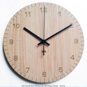 NAIL YOUR ART Minute Wall Clock Unik Artistik/30x30Cm