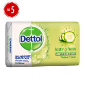 DETTOL Bar Soap Lasting Fresh 105gr Super Hemat - Isi 5