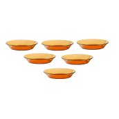 Duralex Lys Amber Cocktail Plate 14.5cm - Set of 6