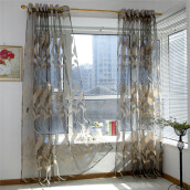 BESSKY Wheat Sheer Curtain Tulle Window Treatment Voile Drape Valance 1 Panel Fabric_
