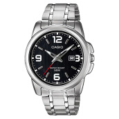 Casio LTP-1314D-1AVDF - Enticer Ladies - Black Dial Ion Plated [LTP-1314D-1AVDF] Silver