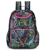 SAKROOTS Tech Backpack in Black Wild Life
