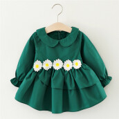 BESSKY Toddler Kids Baby Girls Flower Clothes Long Sleeve Party Princess Dresses_