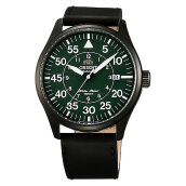 Orient Flieger Automatic Green Forest Dial Black Leather Strap [FER2A002F]