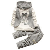 BESSKY 2Pcs Infant Toddler Baby Boys Stripe Hoodie Tops+Pants Outfits Clothes Set _