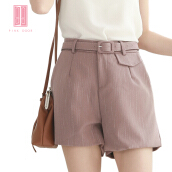 Pink Door Suit Short Pant With pocket-Pink